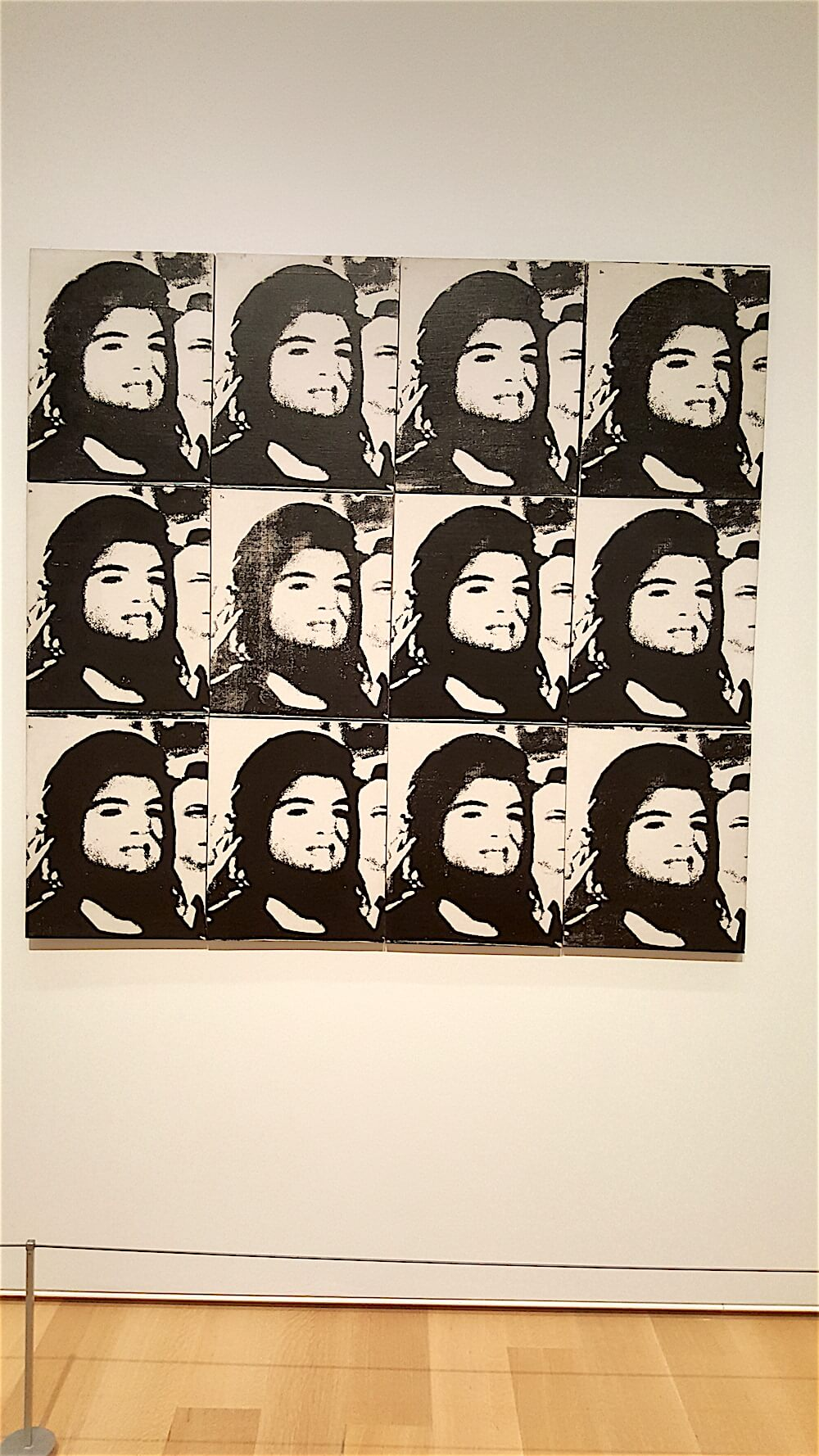 "Here's 12 Jackies from 1964. I love a famous Warhol quote that was on display, ""I'm a deeply superficial person."" Ha."