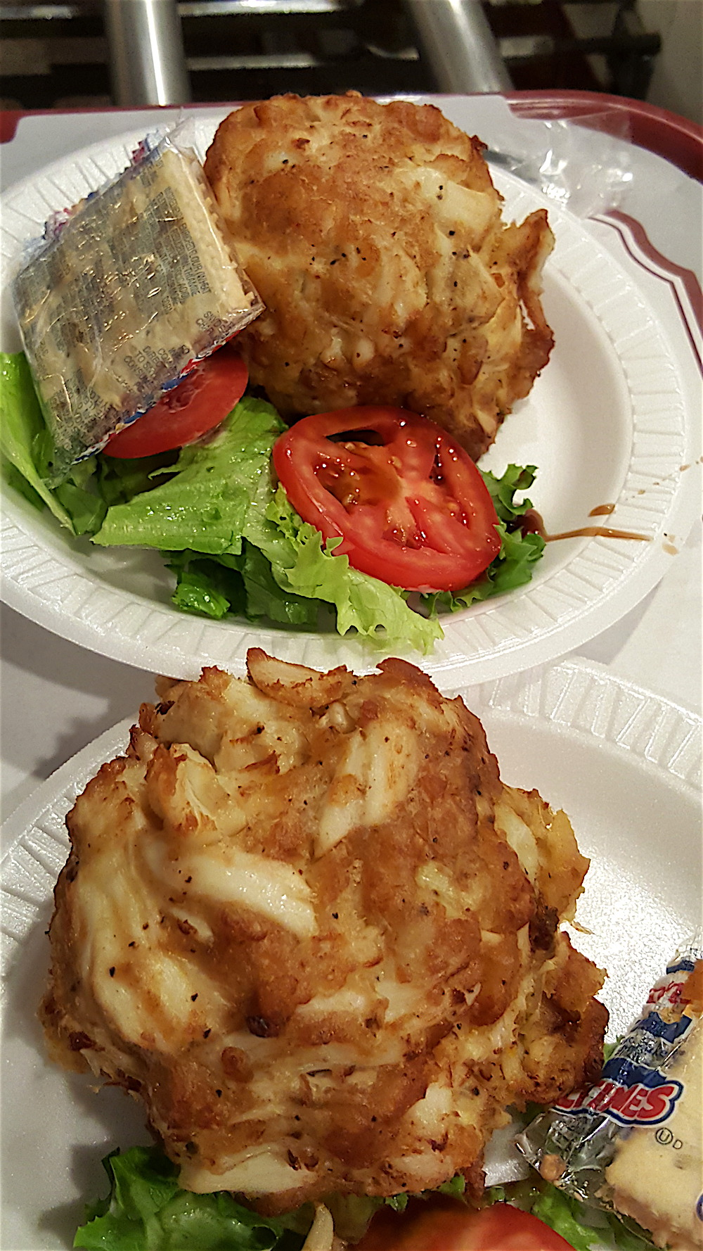 Crab cakes from Faidley Seafood. Yum.