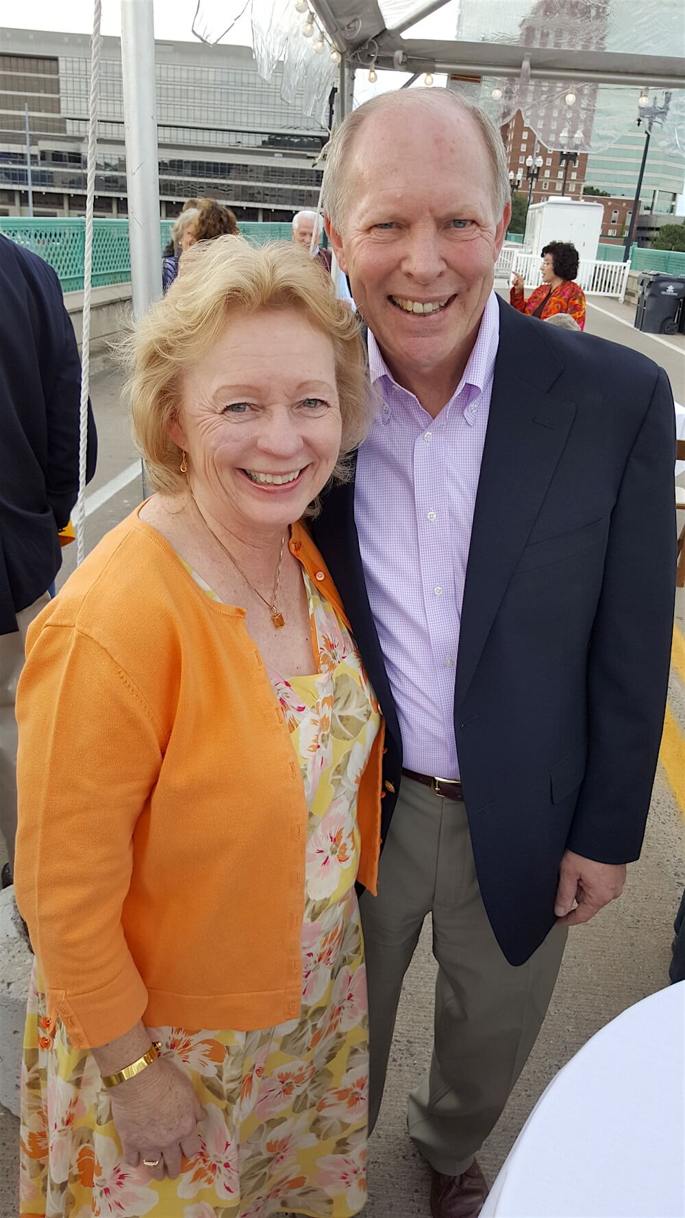 Federal Judge Pam Reeves and her husband, city law director, Charles Swanson.