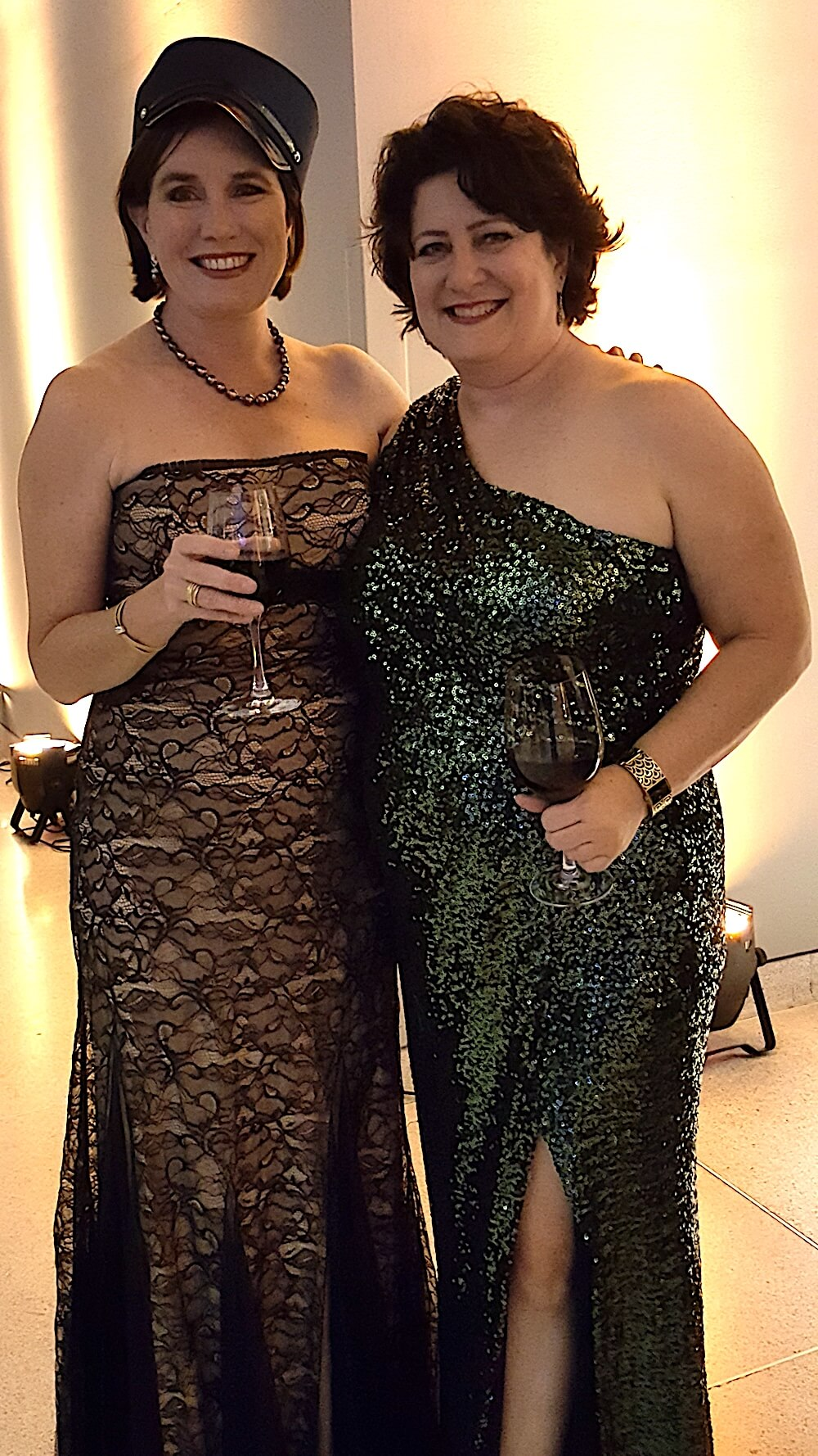 Kim Henry, one of the ball co-chairs, right, with Eden McNabb-Bishop.