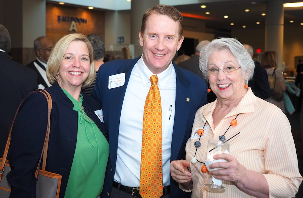 Knox County Commissioner Hugh Nystrom with his wife, Angelia, left, and Frankie Wade.